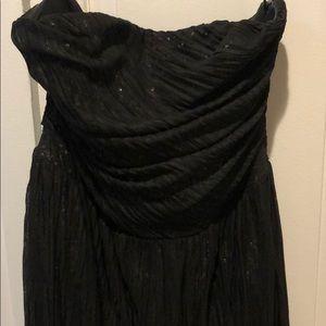Strapless Black high-low Dress